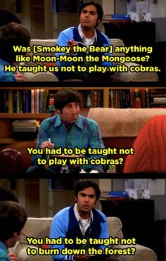 When Howard and Raj didn't hold back about each other's respective countries.