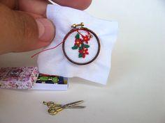 Miniature embroidery kit - dollhouse miniature