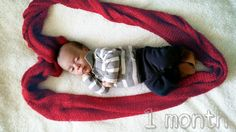 Baby turns 1 month. Baby photography