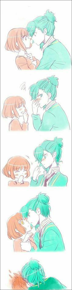 Anime Couple Kiss, Manga Couple, Cute Anime Couples, Manga Love, I Love Anime, Art Manga, Manga Anime, Anime Comics, Anime Bisou
