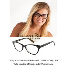 9a2756daa99 Classique William Morris BL030 col. C3-Black Gray Lace Photo