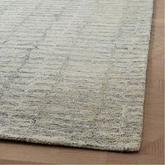 In a cool ivory palette, the allover pattern of our handcrafted Icicle Rug evokes the shapes and colors of a winter wonderland. Each one is hand tufted from wool. Fur Carpet, Beige Carpet, Patterned Carpet, Room Carpet, Modern Carpet, Lorraine, West Elm Rug, Striped Rug, Modern Area Rugs