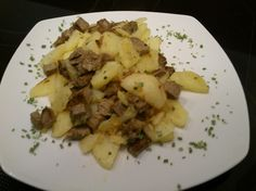 Tiroler Gröstl Risotto, Chicken, Meat, Ethnic Recipes, Food, Essen, Meals, Yemek, Eten