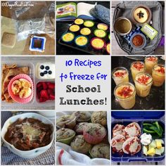 My #1 trick for packing real food school lunches - even when I am feeling tired and uninspired - is making lunch items in advance and freezing them.