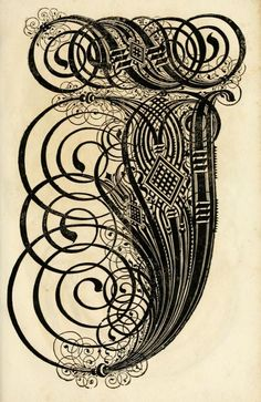 Art of Writing: Ornate 17th Century Calligraphic Letterforms - DesignTAXI.com