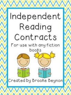 Independent Reading Contracts - for use with any fiction book. Just updated to include another contract plus supporting blacklines $