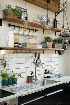 Amazing Small Kitchen Design Ideas - Page 15 of 76 - Interior - . - Amazing Small Kitchen Design Ideas – Page 15 of 76 – interior – - Classic Kitchen, Farmhouse Style Kitchen, Modern Farmhouse Kitchens, Home Decor Kitchen, Rustic Kitchen, Kitchen Interior, New Kitchen, Home Kitchens, Kitchen Modern