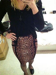 leopard print, pencil skirt, top shop, librarian
