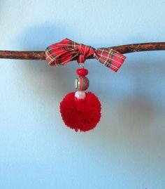 Pom Pom Ornaments | AllFreeHolidayCrafts.com