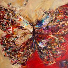 "Saatchi Art Artist Victoria Horkan; Painting, "" Seeing Red -SOLD"" #art"