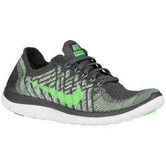 faef2ef6edf Nike Free 4.0 Flyknit 2015 - Women s - Running - Shoes - Black Wolf Grey  Dark Grey White