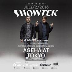 いよいよ今夜!😎✨ The WonderNight SHOWTEK⚡️ 私たちCYBERJAPAN DANCERSもアリーナで踊らせていただきます‼️💃✨ 楽しみ過ぎてドキドキーッ!!!❤ #ageHa_Tokyo #TheWonderNight #Showtek #cyberjapan