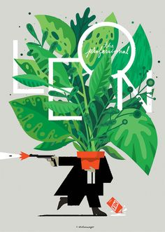 Leon The Professional illustration. Floral Illustration, Illustration Blume, Graphic Design Illustration, Digital Illustration, Design Poster, Design Art, Web Design, Logo Design, Graphic Design Typography