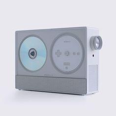 Projector, plastic, white, transparent