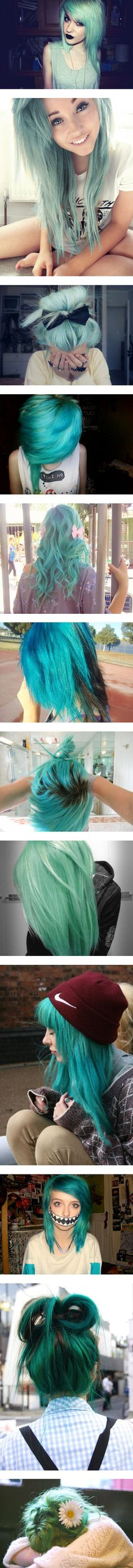 Blue hair is gorgeousss! I just don't have the strength  to do it. I love my hair too much. Haha ):