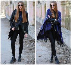 H&M Boots, Pull&Bear Jeans, New Yorker  Leather Jacket, Oasap Sunglasses, Chicwish Bag, George  Sweater
