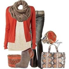 Fall in Coral, created by lagu on Polyvore by MissMolly28