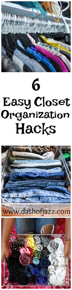 6 Easy Closet Organization Hacks | Dash of Jazz