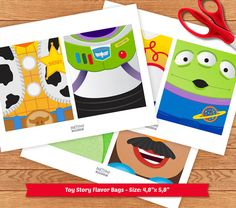 INSTANT DOWNLOAD Toy Story digital art for favor by PartyPopPrints