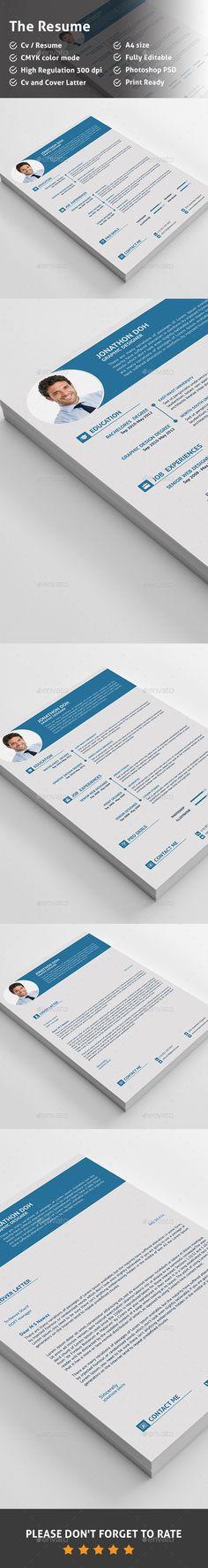 CV Template PSD #design Download: http://graphicriver.net/item/cv/13768588?ref=ksioks