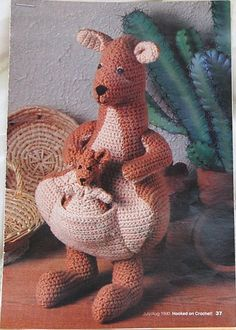 Mama and Joey Crochet Kangaroo Pattern