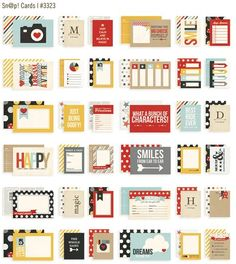 3x4 & 4x6 Say Cheese SN@P! Cards