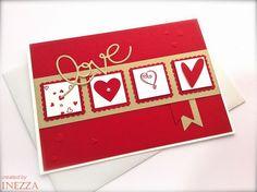 Grußkarte Valentinstag Hochzeit Verlobung Liebe  von INEZZA  -  Geschenkestübchen auf DaWanda.com
