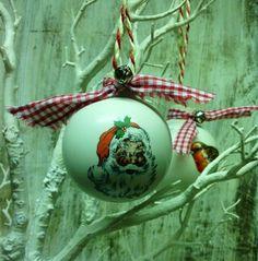 Ceramic Santa Claus Bauble £9.00