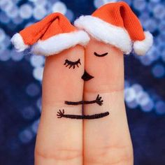 Finger art of a Happy couple. Couple kissing and hugging in the new year hats. Cute Love Quotes, True Love Qoutes, Love Quotes Poetry, Love Husband Quotes, Qoutes About Love, Girly Quotes, Romantic Love Quotes, Romantic Dp, True Quotes