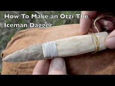 How to make an Otzi the Iceman Flint Dagger. Ancient Bushcraft Survival Skills. - YouTube