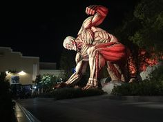 Osaka Japan The Armored Titan crashes through Universal Studios Japan.