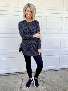 Tunic sweatshirt and leggings