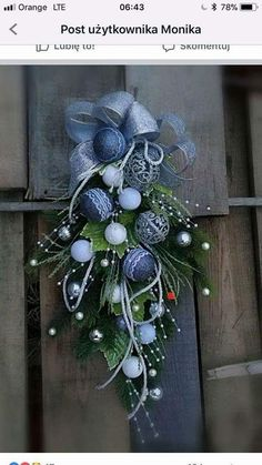 Christmas Swags, Blue Christmas, Beautiful Christmas, Winter Christmas, Merry Christmas, Christmas Time Is Here, Xmas Decorations, Christmas Crafts, Holiday Decor
