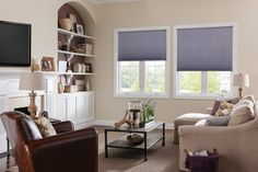 Honeycomb blinds add style and interest to your windows while lowering energy costs!