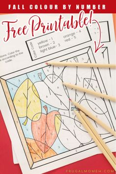 Children will enjoy these celebrating a new season with these Fall Colour by Number Free Printable Sheets. Fun Printables For Kids, Free Printables, Printable Cards, Printable Invitations, Man Crafts, Fallen Book, Kids Learning Activities, Activity Sheets, School Fun