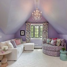 Lavender walls to give a subtle but elegant flow to any room