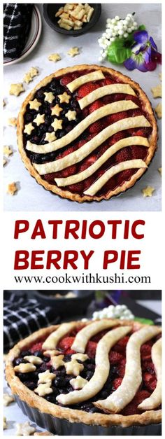 Berry Pie is a delightful treat bursting with flavors from the berries and homemade buttery golden crust. This pie is perfect for the 4th of July weekend! #july4th #4thjuly #independenceday #maericanflagpie #summerpie #fruitpie #berrypie #patrioticdessert #summerrecipes #Potluck #pie #dinner #barbecue #feedfeed #Buzzfeedfood #bhgfood #foodnetwork
