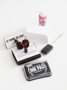 Stamp Business Card: At Home In Love