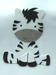 Zebra craft idea for kids Foam Crafts, Preschool Crafts, Diy And Crafts, Crafts For Kids, Paper Crafts, Safari Party, Safari Theme, Zebra Craft, Baby Kind