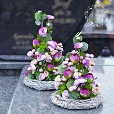 Grave Flowers, Funeral Flowers, Funeral Flower Arrangements, Marie, Floral Wreath, Wreaths, Table Decorations, Home Decor, Memorial Park
