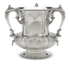 An American sterling silver three-handled loving cup by Theodore B. Starr, New York, NY, first quarter 20th century. AUCTION 22389: FINE FURNITURE, SILVER, DECORATIVE ARTS & CLOCKS 4 Mar 2015 10:00 EST NEW YORK