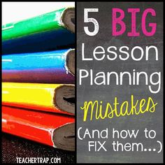The biggest lesson planning mistakes we make and how to FIX them!! :)
