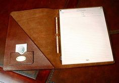 I am looking for advice on a quality, genuine leather padfolio for school, can anybody give me a suggestion as to where to obtain such an item. Leather Notepad, Leather Wallet Pattern, Leather Notebook, Leather Journal, Small Leather Bag, Real Leather, Leather Folder, Document Folder, Leather Portfolio