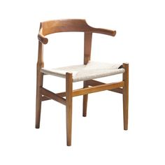 Combining sturdy wood with mid-century modern design, this side chair makes a great addition to a modern dining table or as an extra seat in your retro-inspired living room or office. We especially lov...  Find the Crescent Hemp Side Chair, as seen in the Mid-Century A-Frame in Yosemite Collection at http://dotandbo.com/collections/mid-century-a-frame-in-yosemite?utm_source=pinterest&utm_medium=organic&db_sku=89885