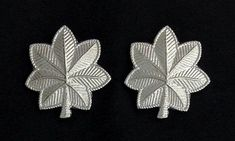 Lieutenant Colonel Oak Leaf Rank Insignia - Small in Silver Plating (Pair) [M/2085-SC] - $7.29 : Fratline Emblematics:, Custom Fraternal Lapel Pins, Masonic Lapel Pins, Masonic Emblems, Masonic Supplies, Fraternal Regalia, Masonic Rings, Masonic Aprons, Masonic Jewelry, Scottish Rite Caps, Knights Templar Uniform Insignia, Masonic Jewelry, Knights Templar, Lapel Pins, Aprons, Solid Brass, Plating, Give It To Me, Pairs