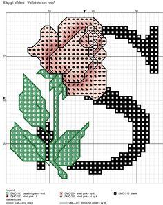 alfabeto con rosa: S