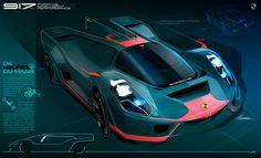 Cleber Santos. Porsche race car concept. #porsche #concept #sketch #render