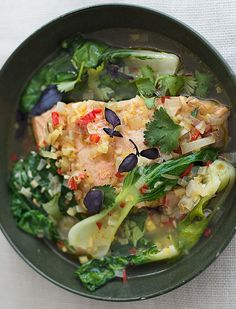 This fail-safe meal is tasty, delicious, and filling. Bok Choi is a great source of vitamin A, which is vital for normal skin cell growth and development. As it is a fat-soluble vitamin, absorption is improved in this dish by the healthy omega-3 fatty acids from the salmon.