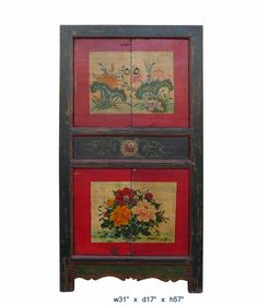 Vintage Flowers Painting Mongolian Tall Cabinet As943 A Large Cabinet,http://www.amazon.com/dp/B005MGU0FW/ref=cm_sw_r_pi_dp_KI7.sb1EDK225PTE
