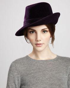 eric javits tracy velour hat